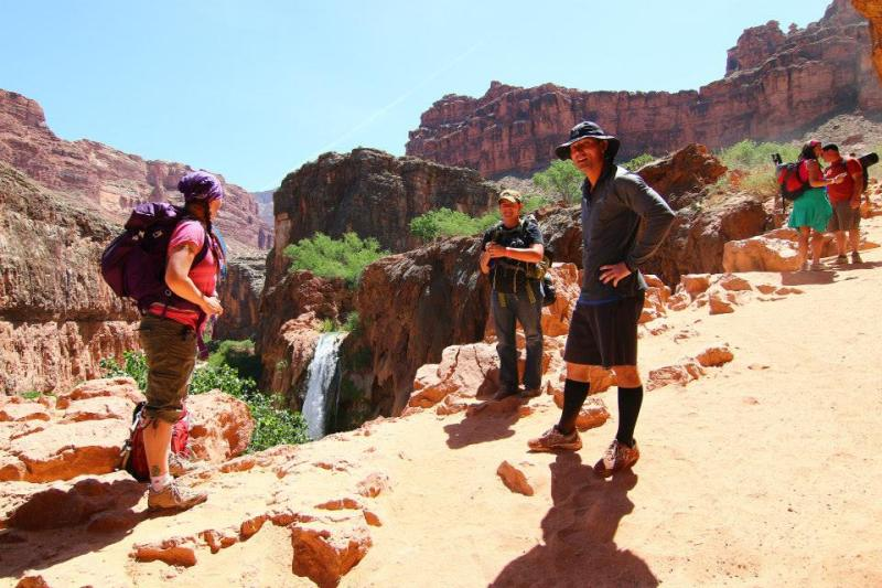 Our first view of Havasu Falls